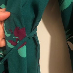 Target Dresses - Emerald Floral Long Sleeve Dress